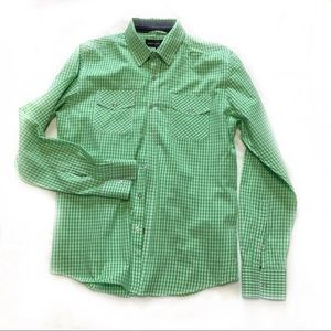 Sunday Work Clothes Men's Green Check Shirt Size M